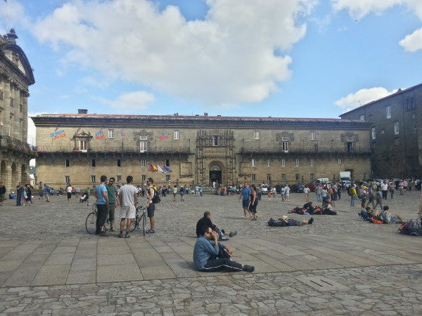 Ambiente de la plaza del Obradoiro