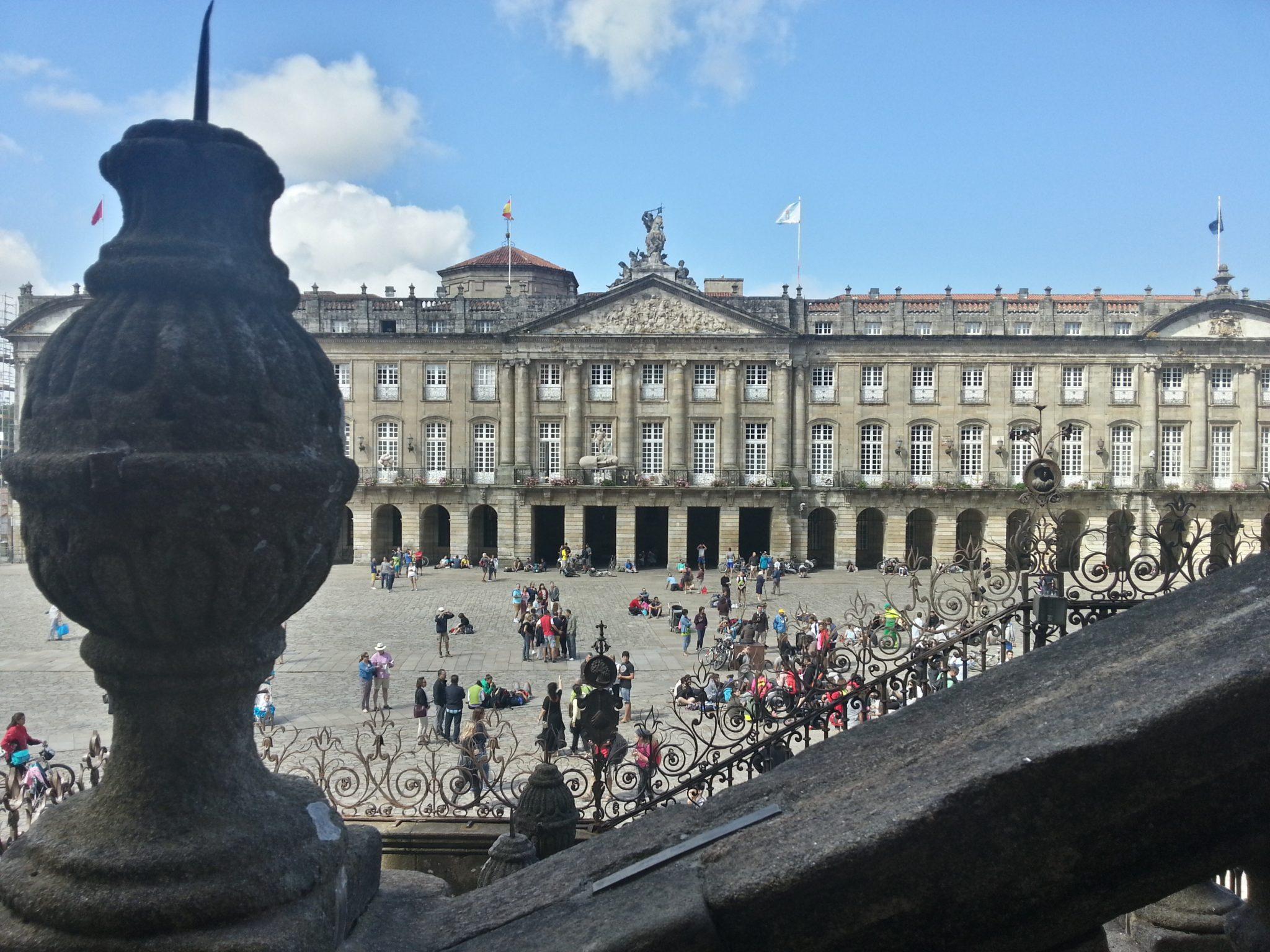 Vistas de la plaza desde la escalinata de la catedral