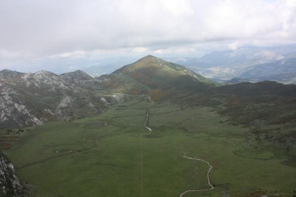 Vista desde uno de los miradores en los Lagos de Covadonga